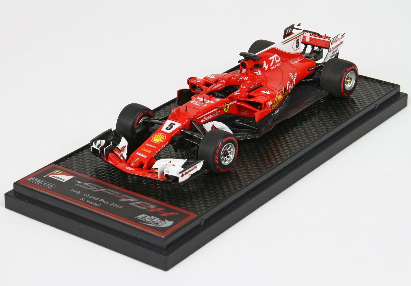 Ferrari F1 Sf70H  5 Monza  Gp 2017 S.Vettel rot BBR 1 43 BBRC203A