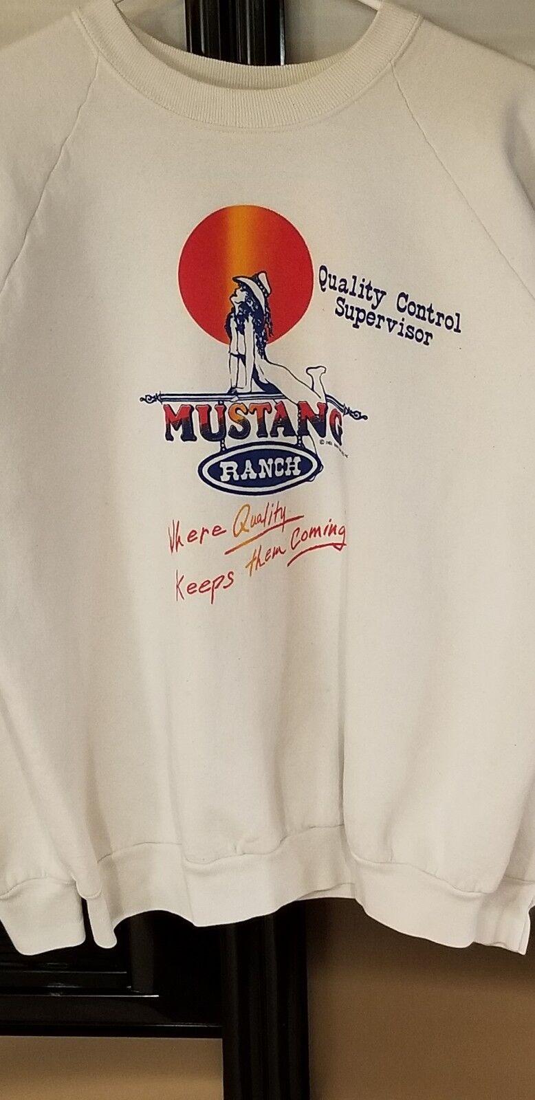 1984 Joe Conforte's Mustang Ranch Cowgirl sweatshirt Mens xl USA MADE