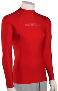 O'Neill Basic Skins LS Rash Guard - Red - New