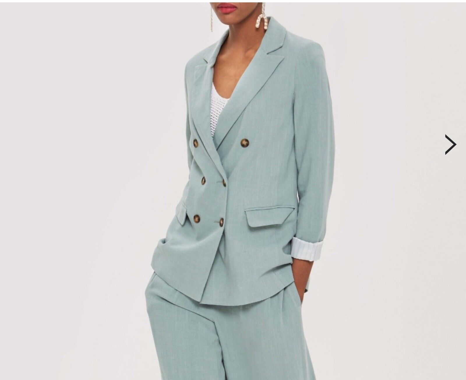 hautshop Double Breasted Linen Blazer Taille UK 4 sold out