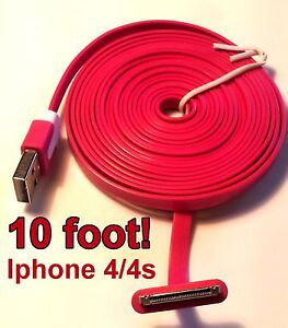 10 foot iphone 5 charger 10 foot iphone 4 4s ipod charging cable cord new 3138