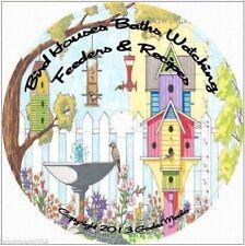 Build Birdhouse Baths Feeders CD Watching Recipes Houses Bird Identify Plan 250+