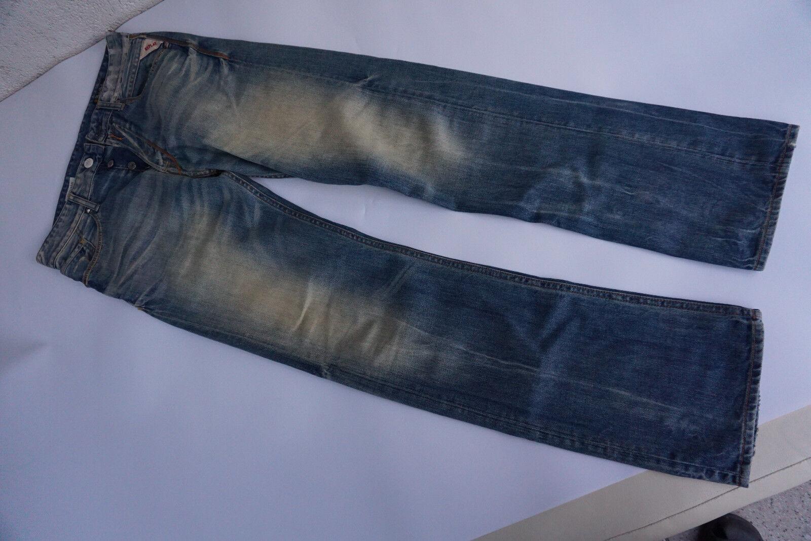 REPLAY Browann Herren Jeans Hose 29 32 W29 L32 used look blau Vintage TOP  8k    Niedriger Preis und gute Qualität    Bekannt für seine hervorragende Qualität    Ein Gleichgewicht zwischen Zähigkeit und Härte