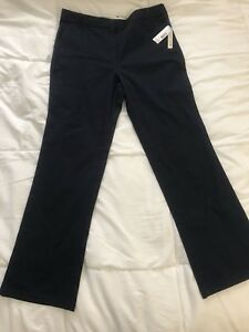 New-Girl-039-s-Dockers-Approved-Uniforms-Pants-Navy-Size-16-5-Plus