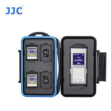 JJC MC-STX9 Memory Card Case fits 1 SXS 4 SD 4 MSD Storage camera water spl