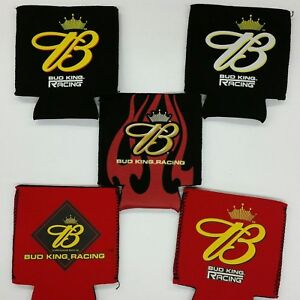 Budweiser-Racing-Can-Cooler-Coozie-Koozie-Coolie-Lot-of-5