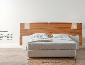 Wooden Natural Headboard Exotic Wood Slab Wide Board Custom