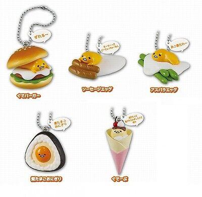 Gudetama Mini Figure Egg Food Key Chain Set of 5 Capsule Toy Sanrio