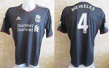 Liverpool #4 Meireles 2011/2012 Away Size L Adidas shirt jersey maglia trikot