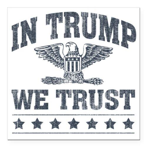 CafePress In Trump We Trust Square Car Magnet 3 X 3 Bumper Sticker 1728702637
