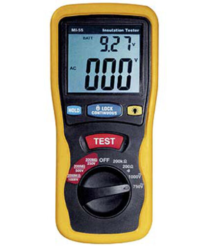 MISURATORE DIGITALE D/'ISOLAMENTO MI-55 DIGITAL OF INSULATION TESTER METER
