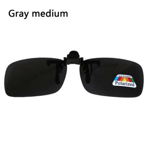 Clip-on Polarized Day Night Vision Flip-up Lens Driving Glasses Sunglasse T2P