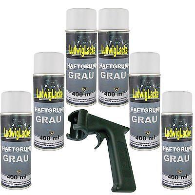 Haftgrung grau 6x 400ml Spraydose Grundierung Rostschutz & Haltegriff Autolack Q