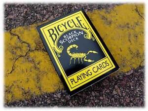 SCORPION-Deck-Bicycle-playing-cards-black-yellow-white-stings-magic-trick-gaff