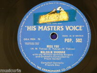 78rpm MALCOLM VAUGHAN miss you / every hour every day of my life