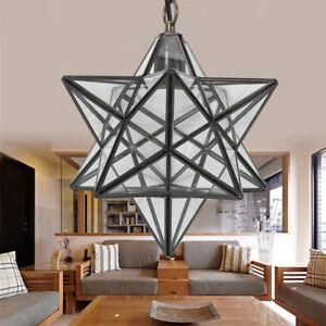 Details about Star Ceiling Light Glass Lamp Hallway Lamp Moravian Star Ceil  Lighting US