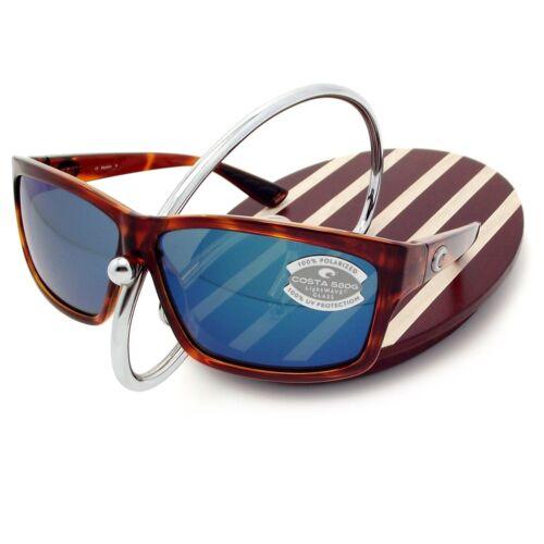NEW Costa Del Mar CUT Honey Tortoise /& 580 Blue Mirror Glass 580G