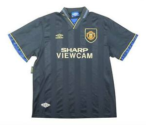 Manchester United 1993-95 Authentic Away Shirt (eccellente) XL soccer jersey