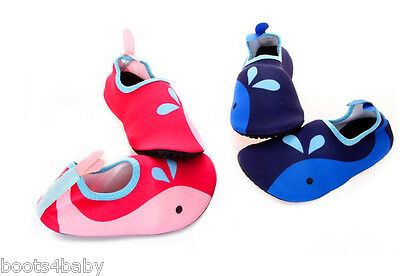 Childrens Kid's Holiday agua AQUA Playa Mojado Zapatos Rojo/Azul UK 8/9 - 1/2