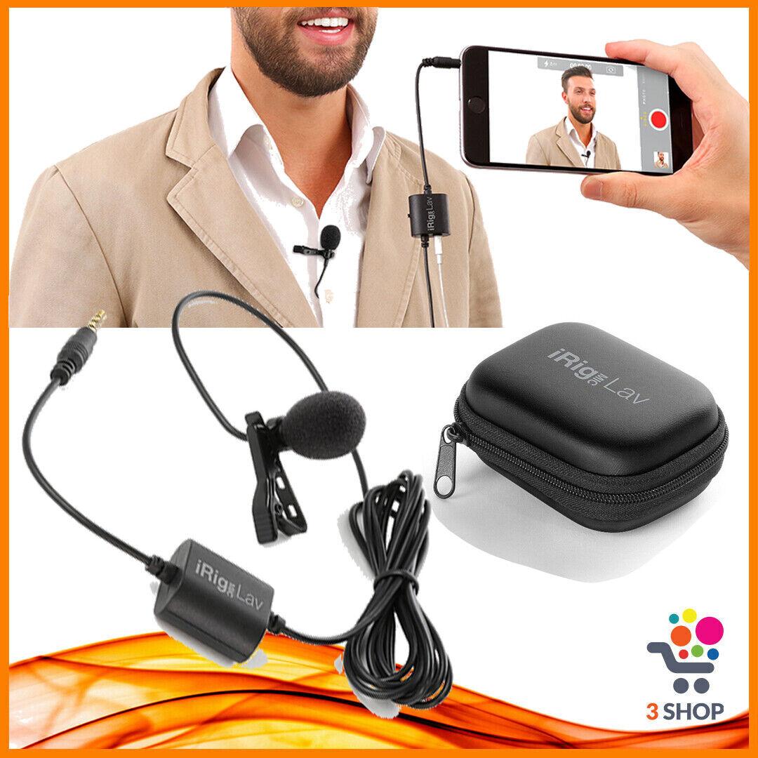 Microfono lavalier a cravatta per iPhone telefono android smartphone dinamico