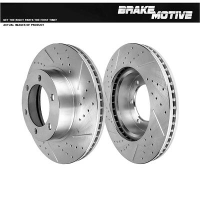 Front Brake Disc Rotors For 2001-2007 Toyota Sequoia 2000-2006 Toyota Tundra