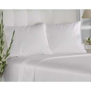 White-Pillowcase-Queen-Hotel-Size-20-034-30-034-With-Soft-Embroidery-PK-2