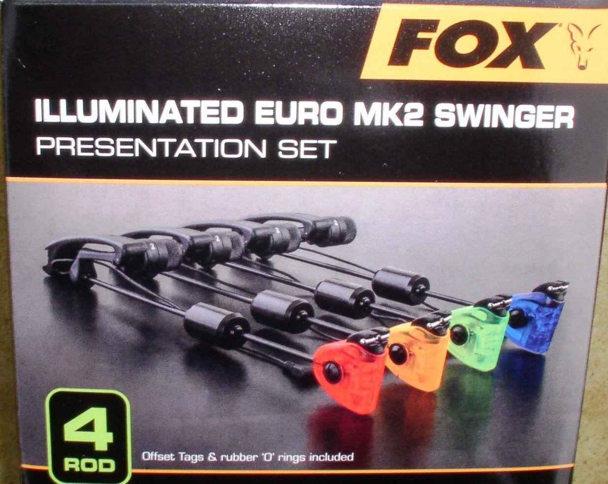 4 fox illuminated euro mk2 swinger rojo amarillo verde azul + pastillero-csi055