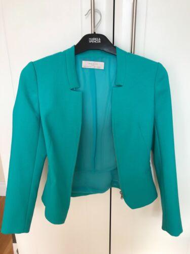 Zara damesmaat damesmaat damesmaat blazer Xs turquoise blazer Zara turquoise Xs Xs Zara turquoise w8UZqz1