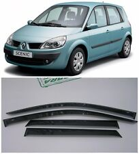 For Renault Scenic 2003-2010 Side Window Visors Sun Rain Guard Vent Deflectors