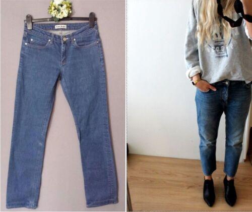 Pantalon Boyfriend Pants Storlek Crop Slouch Jeans Relax Acne Nouveau 30 Denim 32 HaFxw