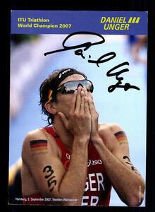 Daniel Unger Autogrammkarte Original Signiert Triathlon + A 134043