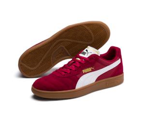 Puma astro Kick Taza De Cuero De Gamuza Zapatillas para hombre Zapatos De Fútbol Rojo blancoo pomegrani