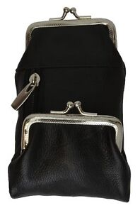 Black-Leather-Cigarette-Pack-Holder-Pouch-Smoke-Carrying-Case-Coin-Purse-Wallet