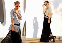 Zara Woman Black Pleated Long Maxi Skirt Bloggers