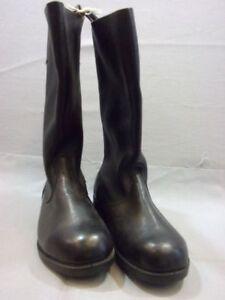Details zu DDR Stiefel Schaftstiefel, Größe 26 = 39 raues Leder