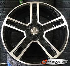 24 GMC Replica 2016 Wheels Tires Black Mch Rims Suburban Escalade Silverado GMC