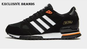 Lengua macarrónica horno alojamiento  Adidas Originals Zx 750 Negro/Blanco/Naranja Zapatillas Hombre Todo Tallas  | eBay