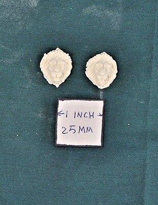 UMA29 Applique Lion/'s Head 2p polyresin 1//12 scale dollhouse miniature