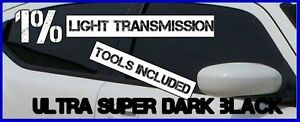 ULTRA-DARK-BLACK-MIRROR-1-LIGTH-TRANS-CAR-WINDOW-TINTING-FILM-3mX75cm-TINT-KIT