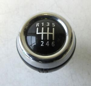 Genuine-MINI-Chrome-amp-Black-Leather-6-Speed-Gear-Knob-R56-R55-R57-R58-R59-45