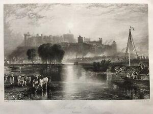 1831-Antique-Print-Windsor-Castle-Berkshire-after-J-M-W-Turner