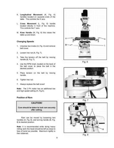 Jet  JVM-836 Milling Machine Operators Manual *207