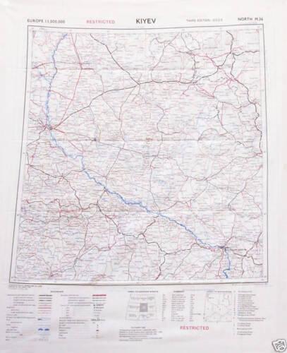 Mappa in seta paracadutista americano silk maps