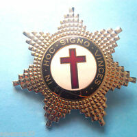 Knights Templar The Lux Silver Star Heavy Badge