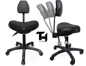 TAT TECH ERGONOMIC STOOL (BLACK) Tattoo Shop Equipment Furniture ...