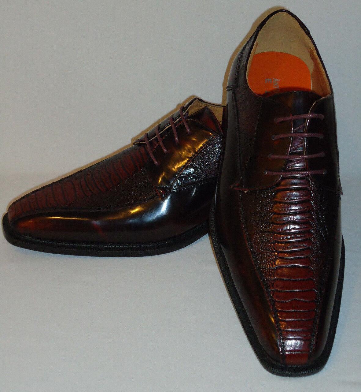 Antonio Cerrelli pour homme effet vieilli 6466 Couleur ELEGANCE Bourgogne Oxford Chaussures