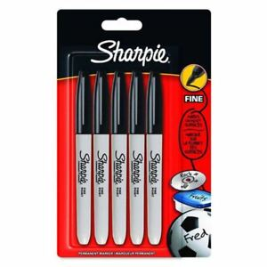 Black 2 ea Sharpie Fine Point Retractable Permanent Markers Pack of 5