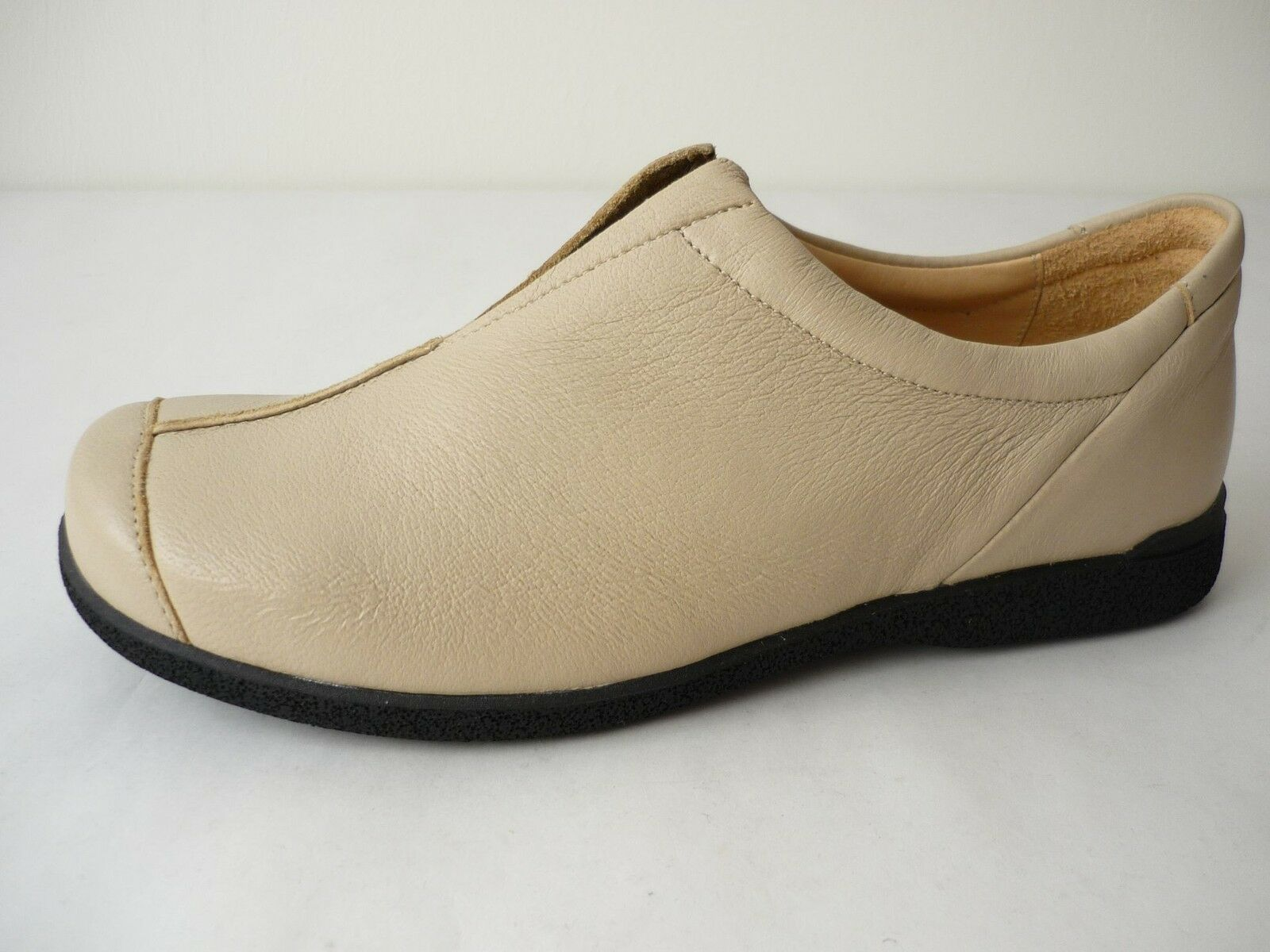 Highlander Femme Chaussures Basses 38,5 41,5 Chaussures beige en cuir chaussures for woman NEUF
