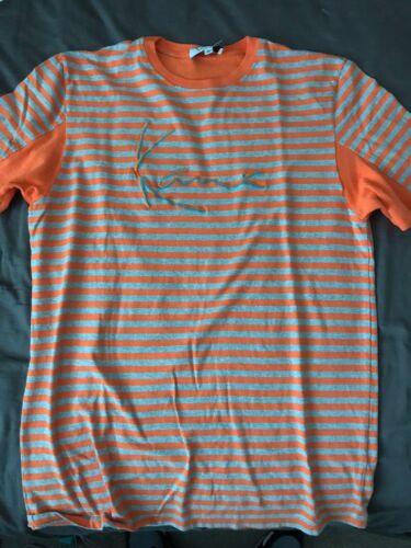 KARL KANI 2Pac//Tupac 90s Retro Rap Striped Mens T-Shirt  Large Made In The USA