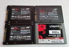 Lot of 4! 512GB SSD Drives, Samsung & kingston, 850 & 840 Pro, KC400, mz7ke512